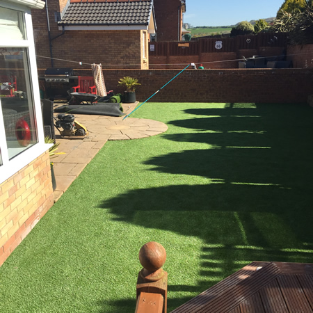 Artificial Grass before and after.